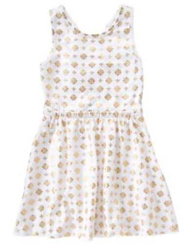 NWT Gymboree Sunny Safari Gold Crossed back Knit Dress 10 Girls