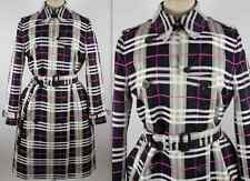 New US 12 UK 14 Burberry London plaid trench jacket coat nova plaid, pink navy