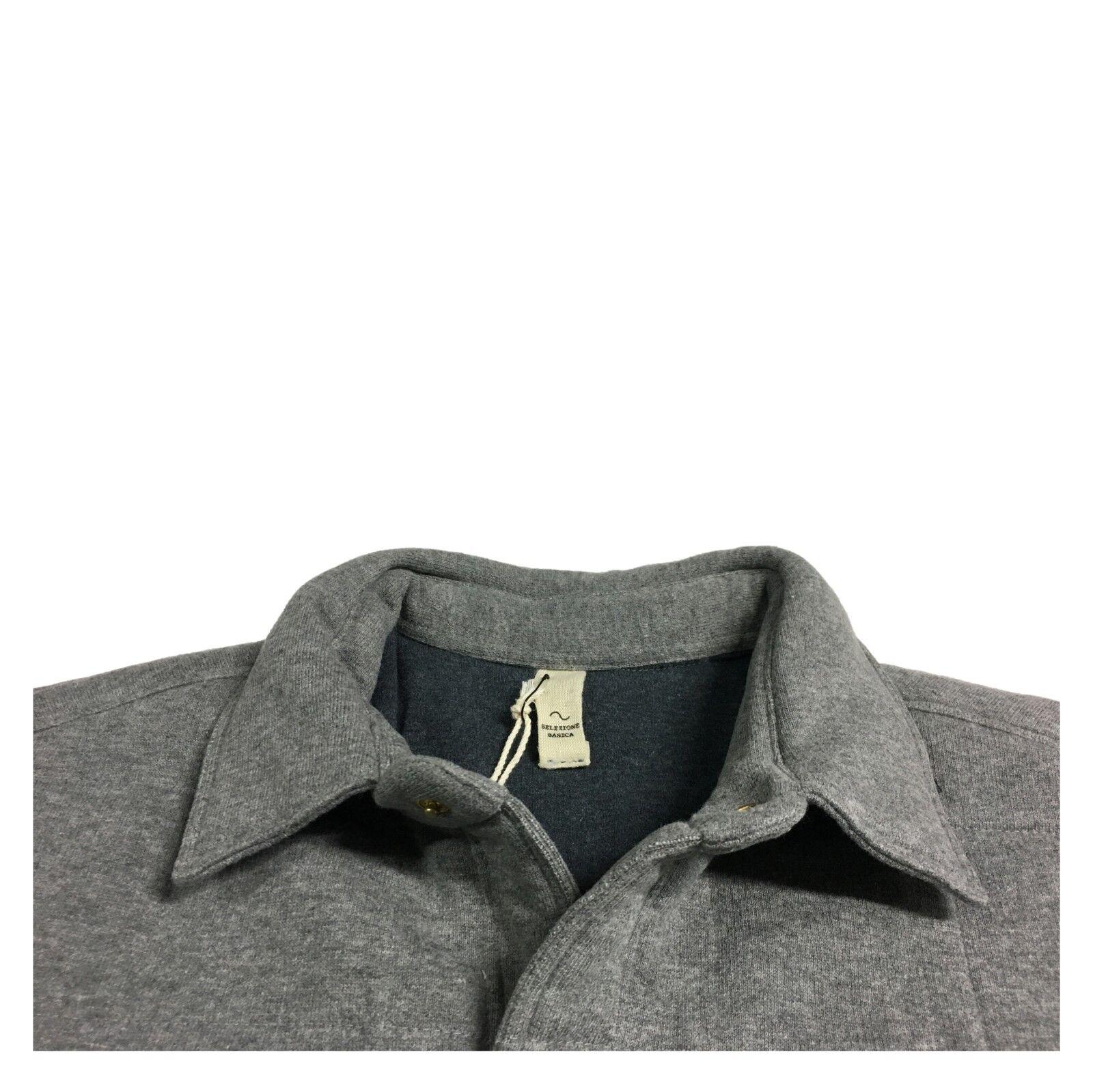 SELEZIONE BASICA giacca camicia grigio   doppiata grigio camicia SUW14203F06 MADE IN ITALY 64e3e5
