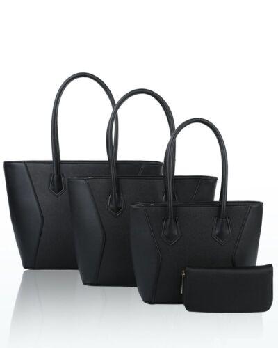 Borsa Handbag Grigio spalla marrone chiaro Set navy setbag Leather a Ladies Tote d Size oliva Nero Faux Ladies bordeaux New 4pc blu rosa Uk gzw0xqFX