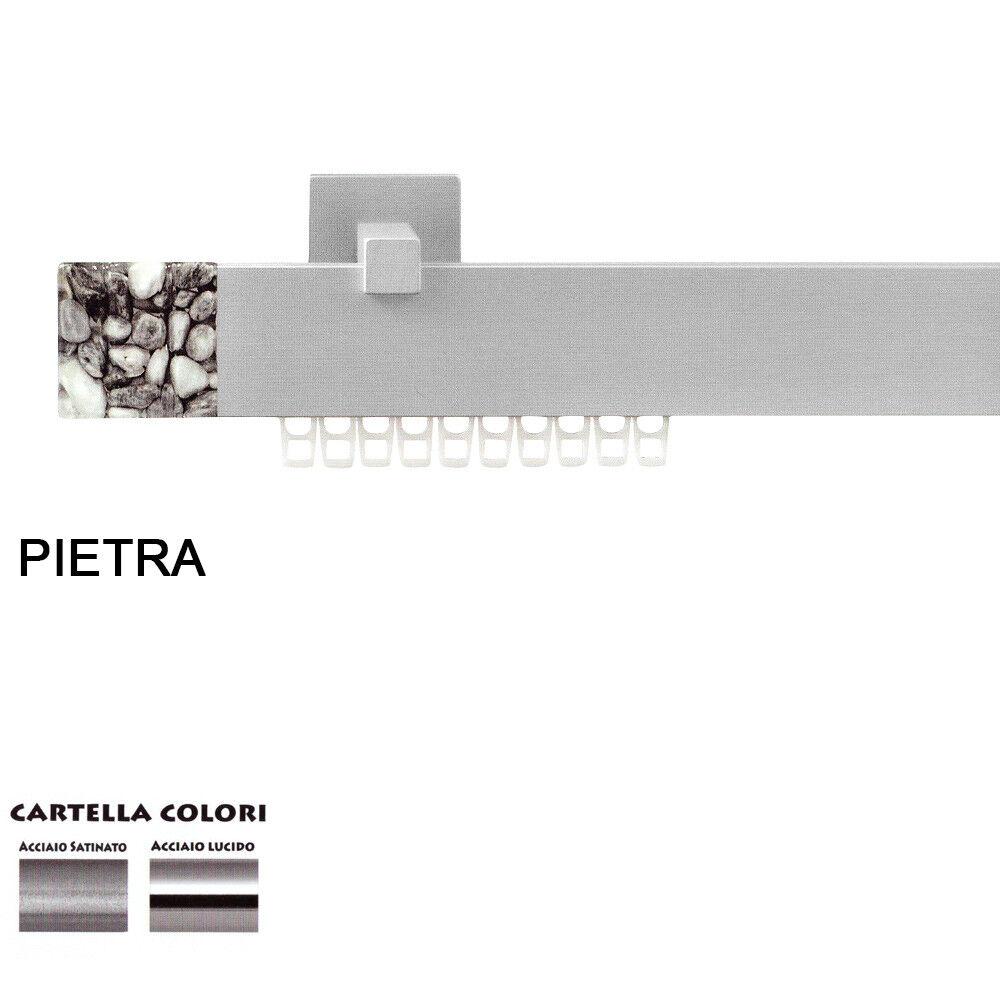 Scorritenda Corda Strappo Bastone Tenda Piatto in Alluminio Terminale Pietra