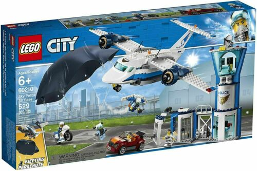 60210 SKY POLICE AIR BASE airplane LEGO legos city town NEW set HEADQUARTERS hq