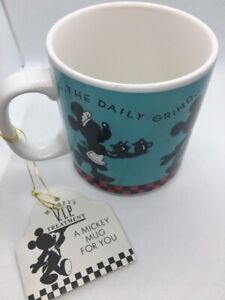 Disney-Mickey-Minnie-Mouse-The-Daily-Grind-Coffee-Mug-Cup-Gibson-VIP