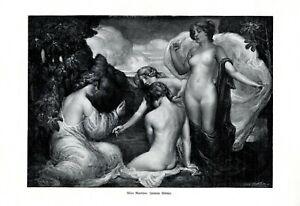 Playing Girls XL Art Print 1908 by Alison Martinson Female Nude Women