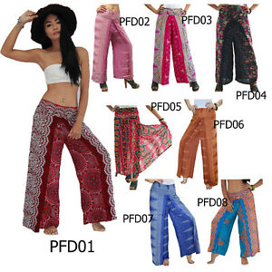 454c336c7f Image is loading Pants-PFD01-Thailand-Wing-Harem-Genie-Aladdin-Rayon-