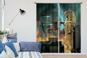 3D-Cat-Robot-Helicopter-R722-Window-Photo-Curtain-Printing-Fabric-Vincent-Amy