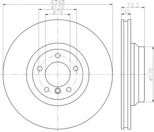 2 x Textar Bremsscheibe VA PRO für BMW 3er E90 E91 e92 E93 X1 E84-92155303