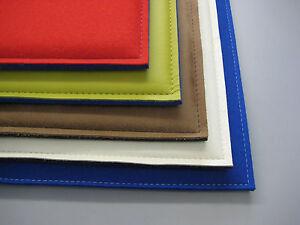 sitzkissen bank stuhlauflage leder filz nach ma bis 38x38 cm in 24 farben ebay. Black Bedroom Furniture Sets. Home Design Ideas