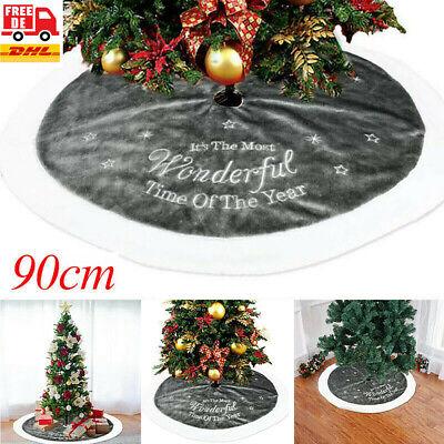 Luxus Weihnachtsbaum Rock Fellimitat Heim Weihnachten Boden Dekor Party Weiß