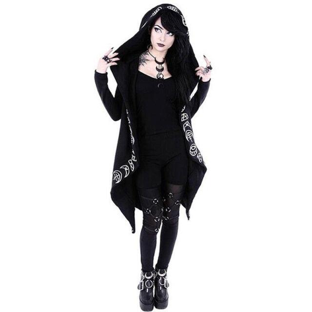 Halloween Women Skull Hoodies Metal Crop Tops Hooded Pullover Sweatshirts Coat