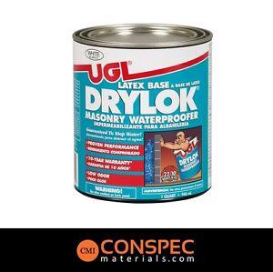 Drylok 27512 concrete brick waterproof paint white - Waterproof paint for swimming pools ...