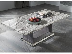 Image Is Loading New Daniella Grey Marble Coffee Table