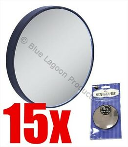 15x-Mini-Espejo-de-aumento-Lupa-ojo-de-maquillaje-para-cejas-ventosas-maquillaje