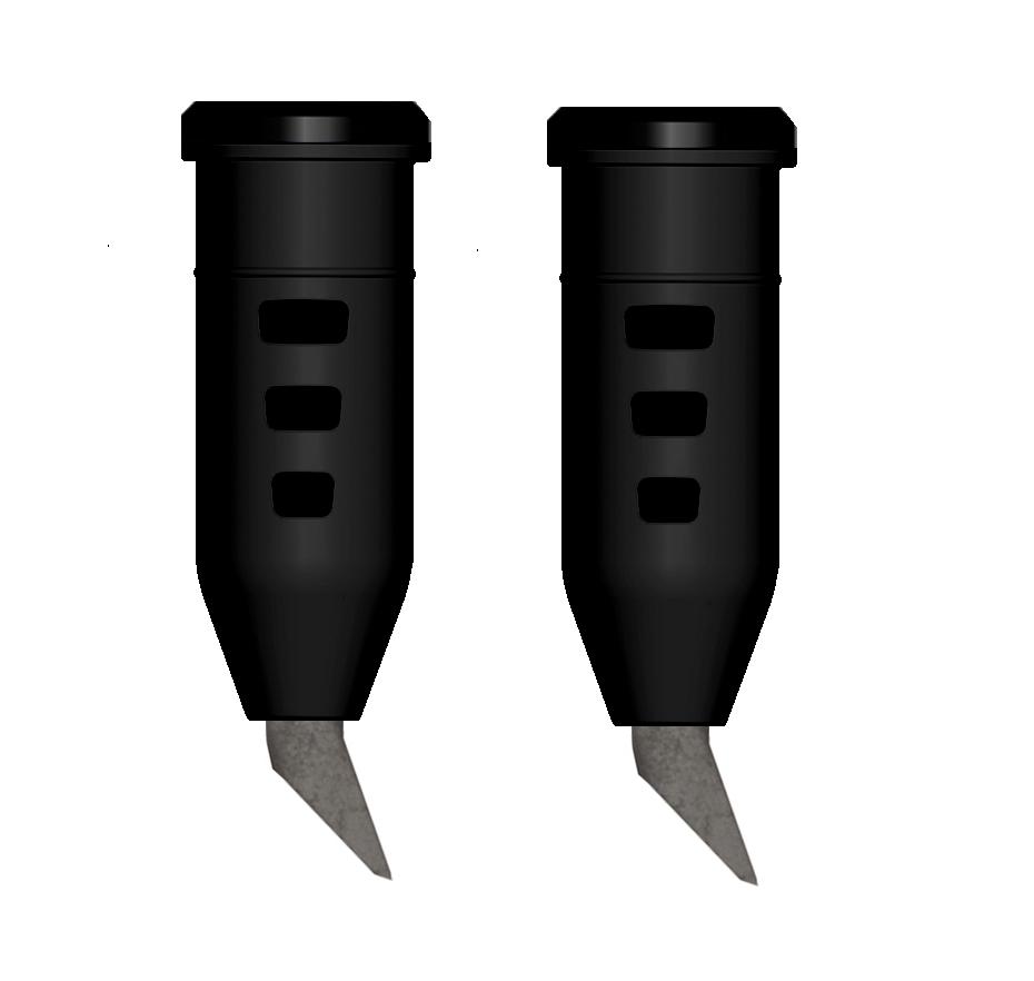 DÄMPFERSPITZEN HARTMETALL ROLLERSPITZE 10 mm (1 Paar) inkl. Heißkleber