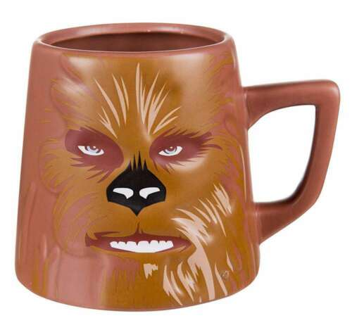 OFFICIAL STAR WARS CHEWBACCA CHARACTER RETRO COFFEE MUG CUP NEW AND GIFT BOXED