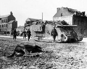 British-Mark-V-Tank-and-Soldiers-Peronne-France-8x10-WWI-WW1-Photo-24