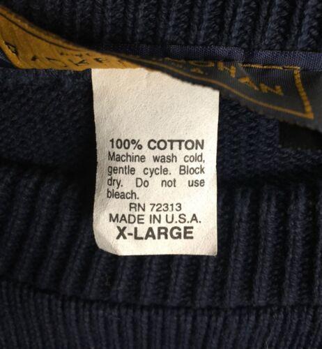 para azul marino Sz 100 redondo Usa de suéter equipo hockey Xl hombres algodón sordos Cuello zx4xqawnSt