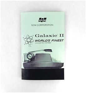 Smith Corona Galaxie II Typewriter User Manual. Galaxie 2 Manual.