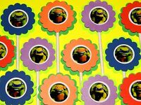 30 Teenage Mutant Ninja Turtles Cupcake Toppers, Birthday Party Favors, Baby Sho