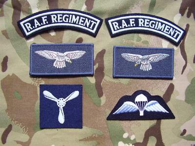 tie and blazer badge set RAF Regiment II Squadron Airborne