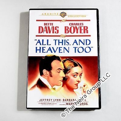 All This and Heaven Too DVD New Bette Davis Charles Boyer Barbara O'Neil