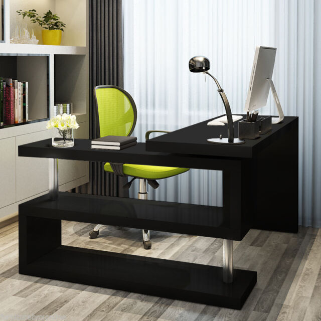 Large Computer Desk Modern Corner Compact Office Writing Table