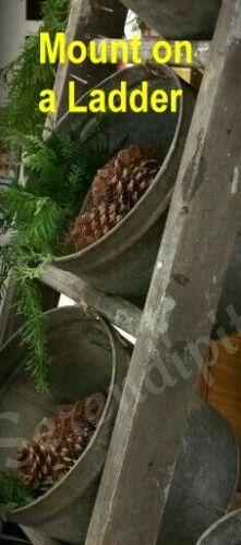 2 TALL Vintage VERMONT Maple Sap Buckets~Country Farmhouse Harvest /& Holidays!