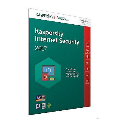 Kaspersky Internet Security 2017 5 Lizenzen (Code in a Box) - FFP [PC]
