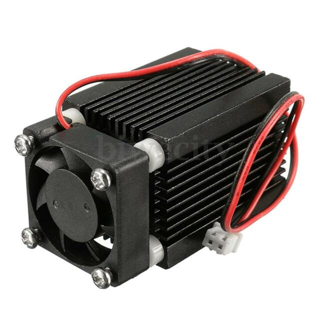 Housing/Case/Heatsink For 5.6mm TO18 Laser Diode LD Black with Glass Lens & Fans