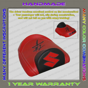 Unique-Custom-REAR-Seat-COVER-Black-Red-Suzuki-Hayabusa-99-07-First-Gen