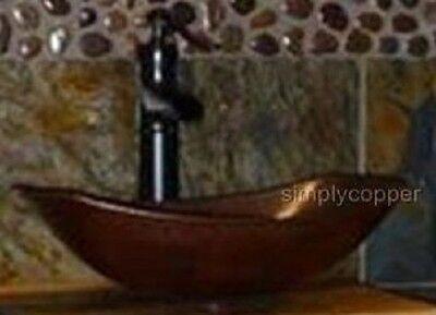 """17"""" Oval Roman Copper Sleigh Vessel Sink DRAIN"""