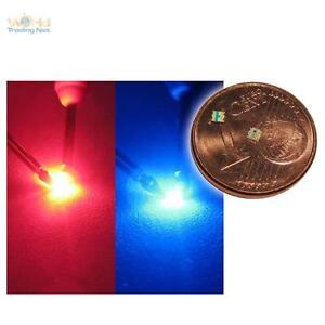 10-x-smd-LED-0603-bicolore-rouge-bleu-2-Couleur-red-Blue
