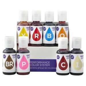 Details About Wilton Color Right Performance Food Colour System For Baking Cakes Treats 8 Pk