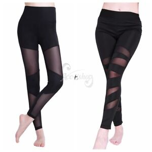 d6760e8e8 Image is loading Sexy-Women-Yoga-Workout-Gym-Leggings-Splice-Running-