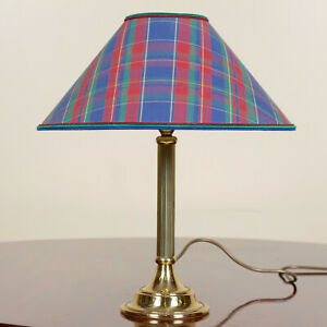 Vintage-Brass-Table-Lamp-Brass-Tartan-Library-Lamp