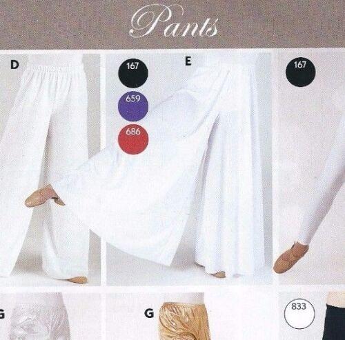 NWT PRAISE LITURGICAL DANCE Palazzo Pants White Knit Ladies Praisewear 85807