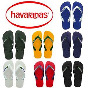 Original-Havaianas-Brazil-Logo-Top-Flip-Flops-Beach-Sandals-All-Sizes-Unisex