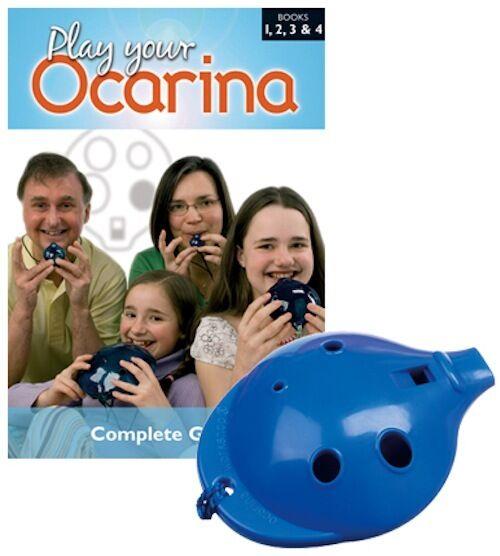 OCARINA SET 6-hole Ocarina and COMPLETE Play your Ocarina Book, six colours