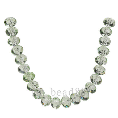 100Pcs Crystal Glass Faceted Rondelle Beads 3x2mm Spacer Jewelry Findings