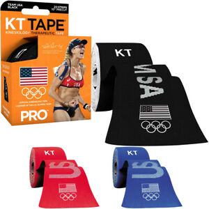 "KT Tape Pro Team USA 10"" Precut Kinesiology Therapeutic Sports Roll - 20 Strips"