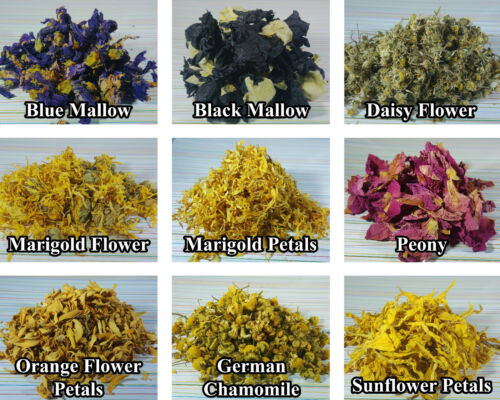 Soap 46 Types Various Dried Flowers Bath Bomb Craft Petals Candle