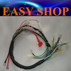 wire loom wiring harness wireloom 50 70c 110cc 125cc atv quad bike rh ebay com au yerf dog go kart wiring harness gy6 go kart wiring harness