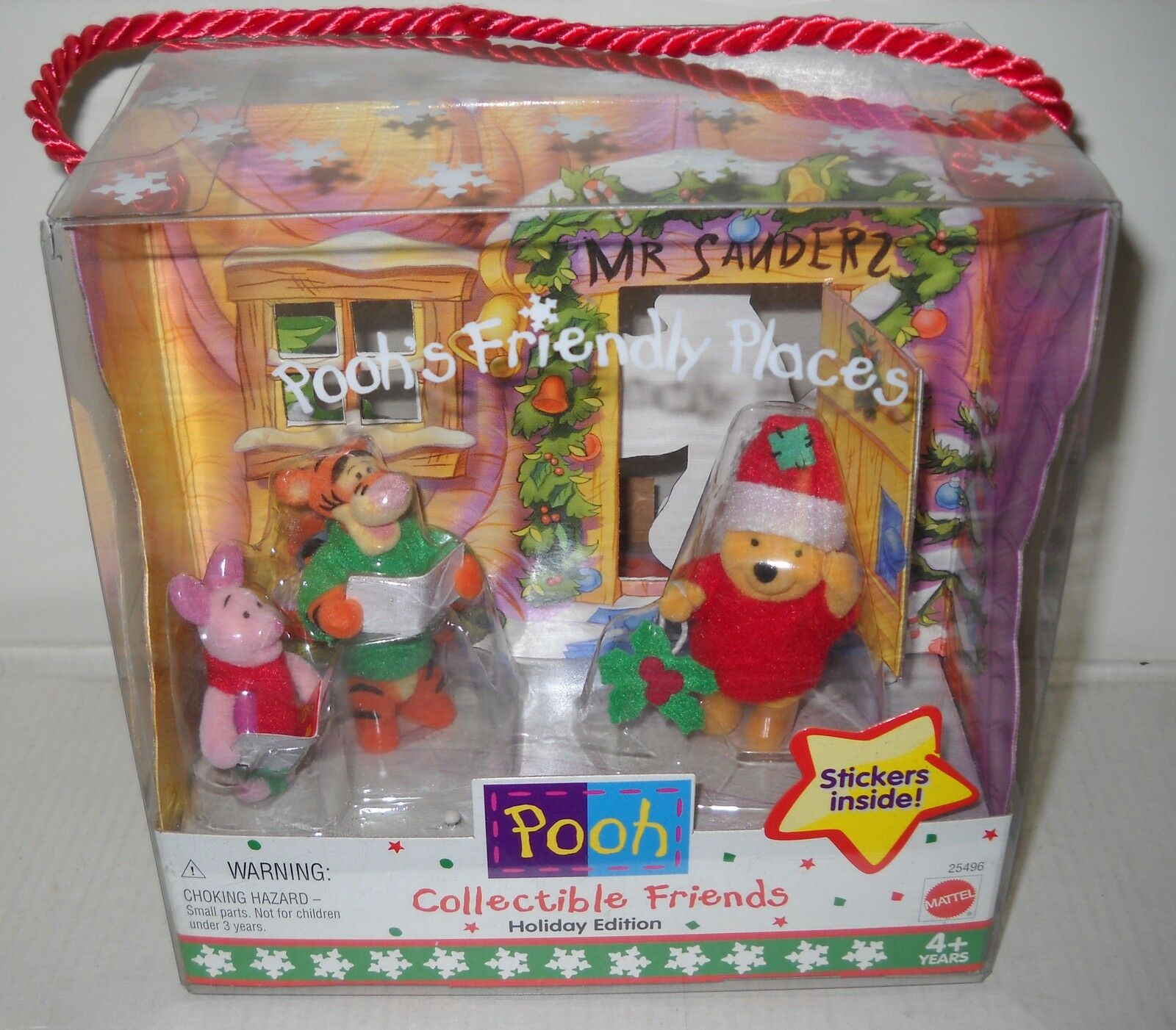 3840 NRFB Mattel Pooh's Friendly Places Target Stores Holiday Edition