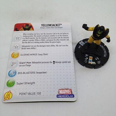 Heroclix Secret Invasion set Yellowjacket #006a Common figure w//card! Human