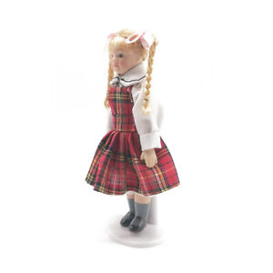 1-12-Dollhouse-Miniature-Doll-Little-Pretty-Girl-With-Long-Blond-Braids-PP003F