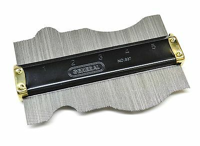"""General Tools 837 Contour Gauge 6"""" Replicate Form Shapes Design Gage Woodworking"""