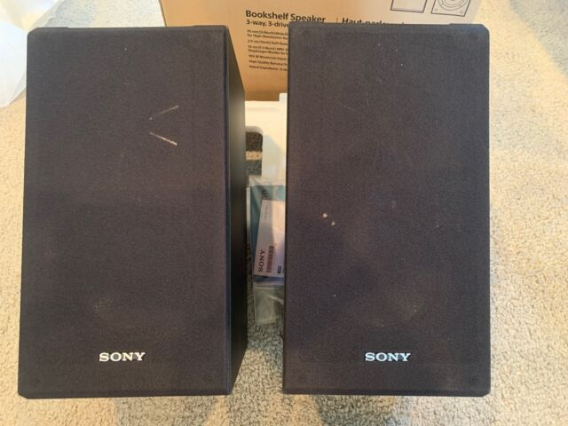 "Core Series 4/"" 2-Way Center-Channel Speaker Open-Box Excellent Sony Black"