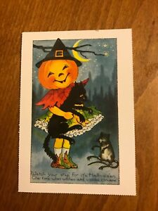 Retro-Halloween-Themed-Postcard-30-NEW-Pagan-Wicca-Gothic
