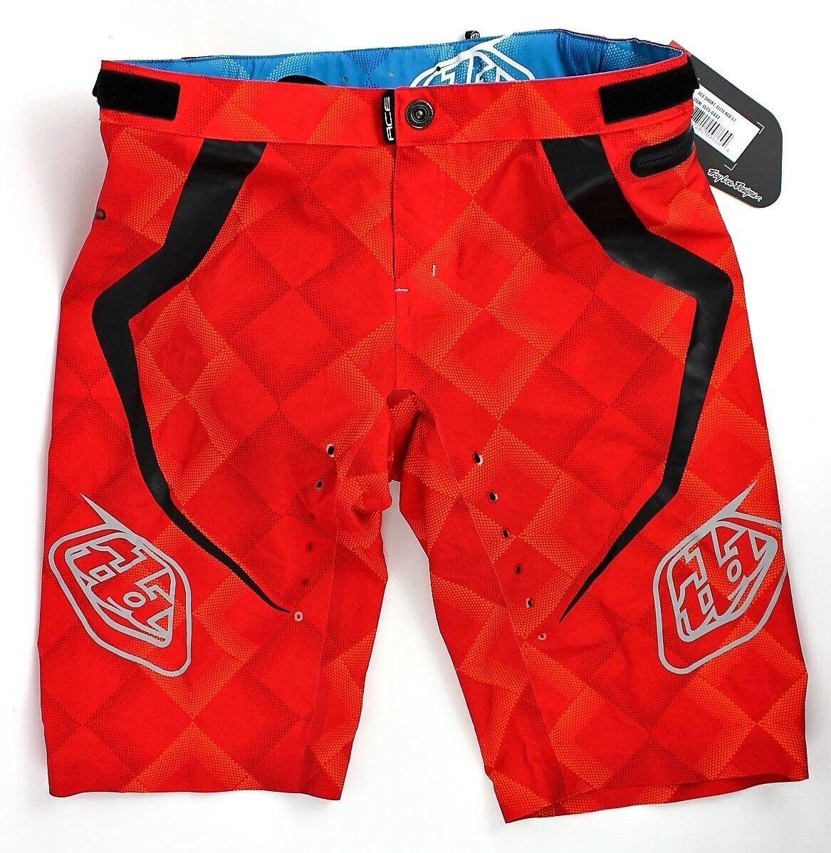 Troy Lee Designs Ace Men's BMX Bike Shorts - Elite Red   Size 36