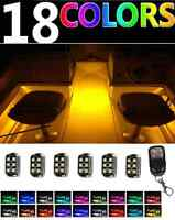 Wireless Control Led Boat Deck Marine Lights Kit Waterproof Pods For Pontoons